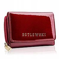 Жіночий шкіряний гаманець Betlewski з RFID 12 х 8,8 х 3 (BPD-BS-930) - червоний, фото 1