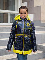 Куртка на подростка девочка демисезонная 34-44 синий