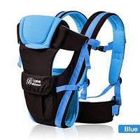 Детский рюкзак кенгуру BABY CARRIER- 4 в 1 A1: ЭргоРюкзак, Хипсит, Слинг. Голубой.