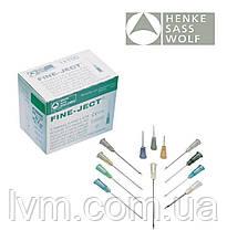 Игла одноразовая инъекционная полая 21G 0,8*16мм L-L FINE-JECT уп/100шт HENKE (Германия)