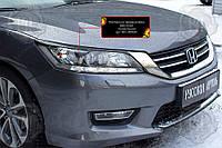 Накладки на передні фари (війки) Honda Accord IX (седан) 2012-2015 р. в.