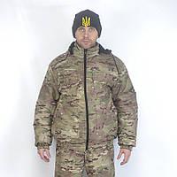 Камуфляжная куртка Мультикам с капюшоном микрофибра