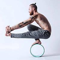 Колесо для йоги, чёрно-бирюзовое, йога с колесом