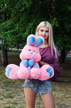 Плюшевий Зайчик Роджер 60 см Рожевий