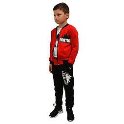 Спортивный костюм для мальчика Фортнайт красный р.116-156