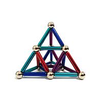 Магнитный конструктор Neo 36 палочек и 27 шариков неокуб Разноцветный