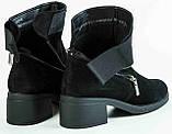 Ботинки замшевые женские на байке большого размера от производителя модель МИ3707-9, фото 6