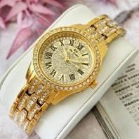 Годинники наручні жіночі кварцові золоті Bee Sister 1501 All Gold Diamonds 1048-0019