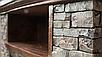 Электрический пристенный каминокомплект Bonfire MM14014 KANZAS искусственный камень Полистоун, фото 8
