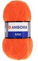 YarnArt Angora RAM - 206 морковный яркий