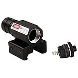 Тактичний ЛЦУ червоний точковий лазер на планку 11-22 мм, фото 4