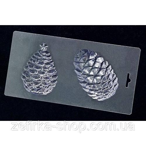 Пластиковая форма для шоколада Шишка и елочка