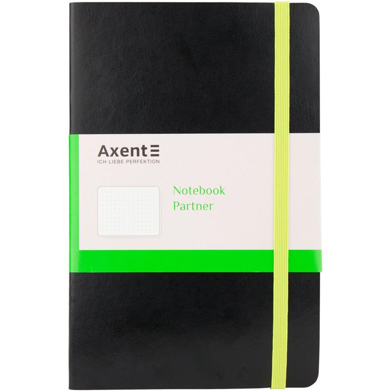 Записная книга А5 Axent Partner Flex, черная, 96 л. в точку 8209-01