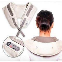 Ударный вибромассажер для мыщц спины, плечей и шеи Cervical Massage Shawls