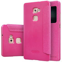Кожаный чехол Nillkin Sparkle для Huawei MATE S розовый