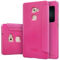 Шкіряний чохол Nillkin Sparkle для Huawei MATE S рожевий, фото 1