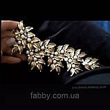 Золота оздоба з перлинами та кристалами, фото 2