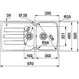Гранітна мийка Franke Antea AZG 651-116 фраграніт мигдаль, фото 2