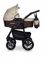 Коляска 3 в 1 детская легкая с алюминиевой рамой универсальная Verdi Sonic 47, коричневая