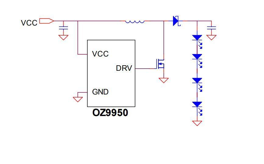 OZ9950GN, светодиодный драйвер, SOP8