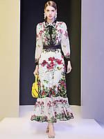 Сукня осіннє з шифону з лацканами, фото 1