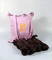 Набор веревок для 6мм шибари 4х8м.+ сумка, БДСМ набор, джут.Черный