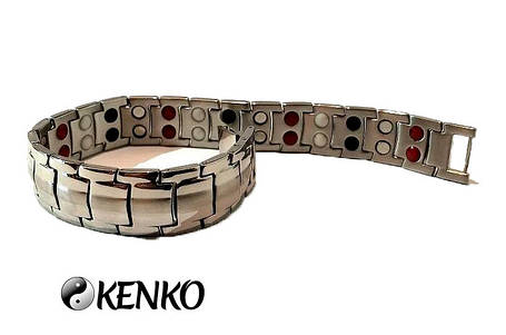 Широкий магнитный браслет с турмалиновыми вставками, фото 2