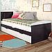 Кровать детская деревянная с дополнительным спальным местом Компакт, фото 2
