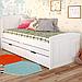 Кровать детская деревянная с дополнительным спальным местом Компакт, фото 5
