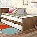 Кровать детская деревянная с дополнительным спальным местом Компакт, фото 3
