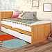 Кровать детская деревянная с дополнительным спальным местом Компакт, фото 4
