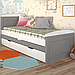 Кровать детская деревянная с дополнительным спальным местом Компакт, фото 6
