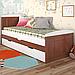 Кровать детская деревянная с дополнительным спальным местом Компакт, фото 7