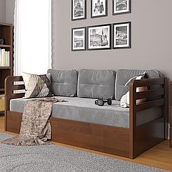 Ліжко дитяче дерев'яне з підйомним механізмом Немо Люкс