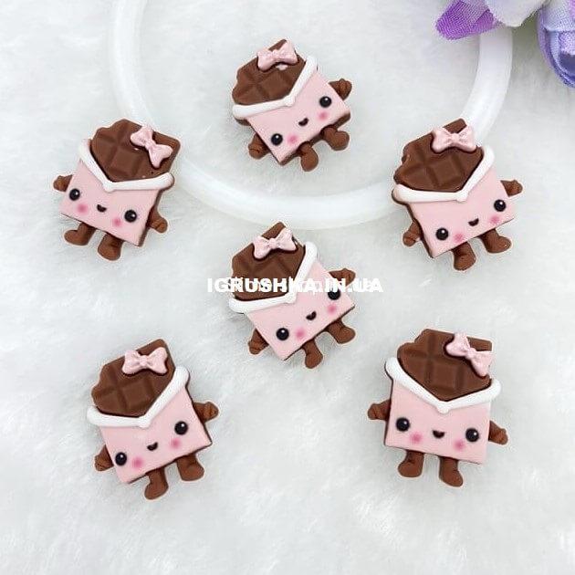Шарм «Шоколадка-Девочка» для слайма
