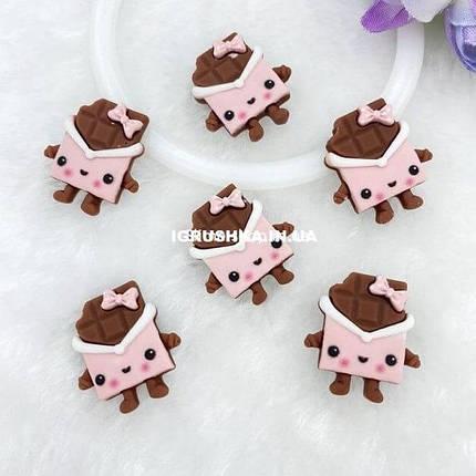Шарм «Шоколадка-Девочка» для слайма, фото 2