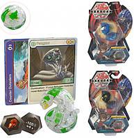 Игровой набор Bakugan Бакуган 1 герой 1 магнит 3 карты 18 видов