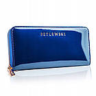 Шкіряний гаманець BETLEWSKI з RFID 19,5 х 9,5 х 2,5 (BPD-BS-5201) - синій, фото 3