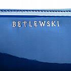 Шкіряний гаманець BETLEWSKI з RFID 19,5 х 9,5 х 2,5 (BPD-BS-5201) - синій, фото 7