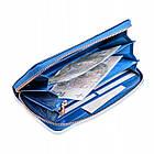 Шкіряний гаманець BETLEWSKI з RFID 19,5 х 9,5 х 2,5 (BPD-BS-5201) - синій, фото 8
