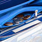 Шкіряний гаманець BETLEWSKI з RFID 19,5 х 9,5 х 2,5 (BPD-BS-5201) - синій, фото 9