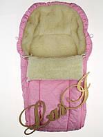 Зимний конверт в коляску для новорожденных Снеговик