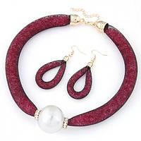Кольє і сережки з перлами