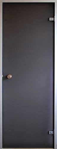 Стеклянная дверь для хамама Saunax Classic 80х200, прозрачная бронза