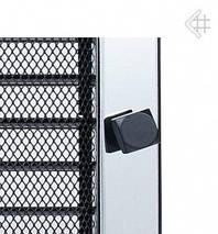Вентиляционная решетка для камина KRATKI 22х37 см никелированная с жалюзи, фото 3