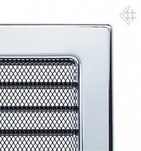 Вентиляционная решетка для камина KRATKI 22х37 см никелированная с жалюзи, фото 2