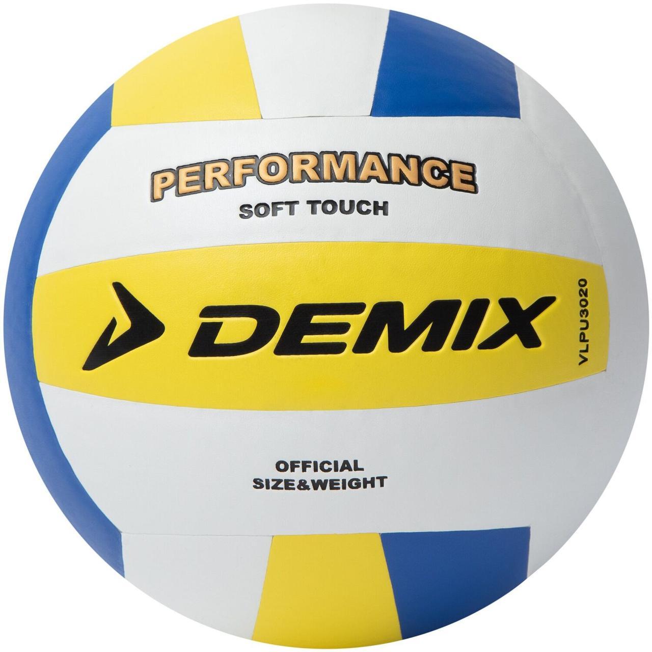 Мяч волейбольный Demix, белый/желтый/синий, 5