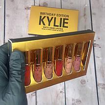 Набор жидких губных помад Kylie gold Микс цветов подарок девушке на 8 марта (живые фото), фото 2
