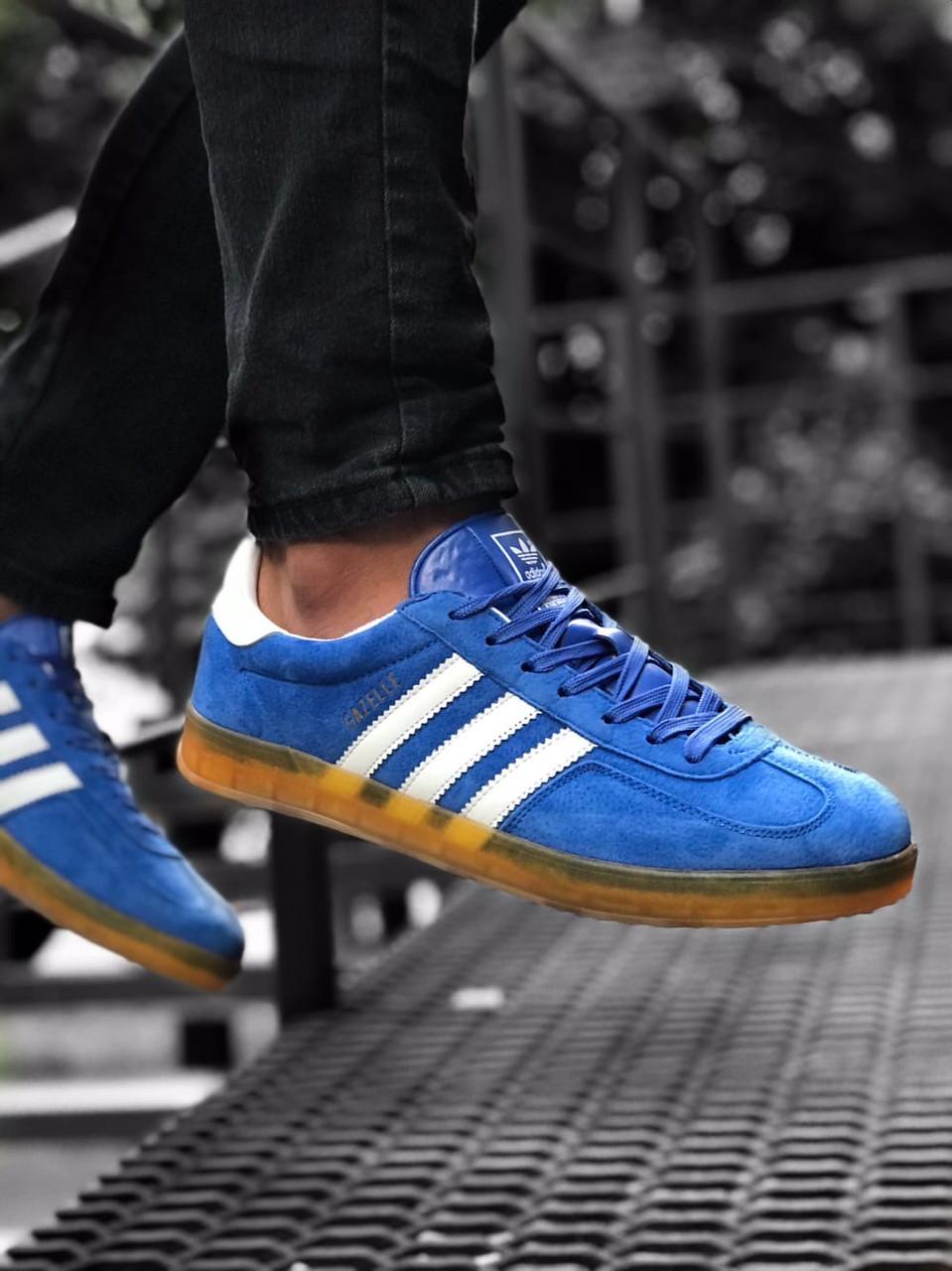 Кроссовки мужские Adidas Gazelle Blue Gum Синие