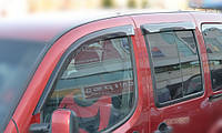 Дефлекторы окон Fiat Doblo Cargo 5d 2009 | Ветровики Фиат Добло Карго